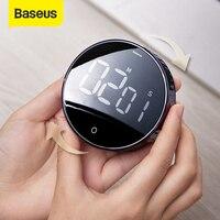 Baseus מגנטי דיגיטלי טיימרים ידנית ספירה לאחור מטבח טיימר ספירה לאחור שעון מעורר מכאני בישול טיימר מעורר דלפק שעון