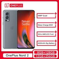 Globale Version OnePlus Nord 2 5G Smartphone MediaTek Dimensity 1200-AI 50MP AI Kamera Warp Ladung 65W Nord2 Mobile telefon
