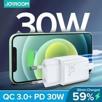 Joyroom 30W Quick Charge 3,0 USB Lade Für iPhone Samsung Huawei Xiaomi 2 Port QC 3,0 Turbo Wand Ladegerät US EU UK Stecker Adapte
