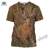 Camiseta Crazy Hare de caza para hombre, camisetas para gimnasio, con estampado 3D de Animal, conejo encantador, manga corta, gran oferta