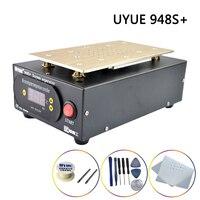 분리기 기계 UYUE 948S + LCD 화면 분리 7 인치 내장 펌프 진공 스크린 수리 키트 스마트 폰 아이폰 삼성