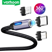 Vothoon 3 in 1 Magnetic Charging Kabel Schnelle Ladung USB Micro Typ C Kabel Magnet Daten Ladegerät Draht Handy kabel