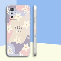 Nette Blumen Aquarell Silikon Telefon Fall Für Xiaomi 11 Ultra 10 Lite 10 Pro Redmi Hinweis 10 Pro K30 K40 schutz Zurück Abdeckung