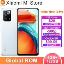 Neue Globale ROM Xiaomi Redmi Hinweis 10 Pro Handy 6GB 128GB Dimensity 1100 Octa Core 120Hz Display 64MP Kamera 5000mAh Batterie
