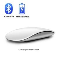 Mouse sem fio bluetooth 5.0 recarregável, mouse mágico ultrafino multitoque silencioso para laptops ipad mac pc macbook