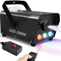 500W LED ערפל מכונת, שלט רחוק מכונת עשן עם RGB LED אורות לתאורה השפעות דיסקו בית מסיבת חתונת שלב Fogger