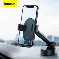 Baseus הכבידה רכב טלפון מחזיק גמיש יניקה כוס נייד הסלולר תמיכה הר טלפון Smartphone מחזיק עבור טלפון במכונית