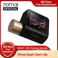 Internationalen 70mai Auto DVR 1080P 2'' LCD Bildschirm HD Dash board 70mai Lite Kamera APP Control Fahren Recorder 130 FOV Dash Cam