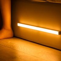 Plutus-קווין LED לילה אור חיישן תנועה אלחוטי USB נטענת 20 30 40 50cm לילה מנורת למטבח ארון ארון בגדים