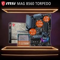 LGA 1200 MSI MAG B560 TORPEDOO Mit Intel Core i7 11700KF Motherboard Combo i7 11700KF Combo Intel B560 Placa-mãe Kit B560 1200