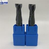 HRC45 2F פלדת כרסום קאטר 1 2 3 4 5 6 8 10 מוצק קרביד קצה מילס CNC חיתוך כרסום כלים סגסוגת טונגסטן כבוד בום