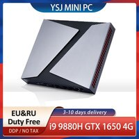TOP Desktop computer NVIDIA GeForce GTX 1650 Intel Core I9 9880H i7 9750H Gaming Mini PC 4G HDMI DP Windows10 Pro AC wifi BT 4.0