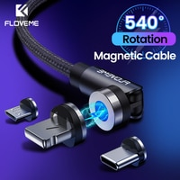 FLOVEME-L 타입 마그네틱 충전기 케이블 USB 충전 케이블, 브레이드 코드 충전 마이크로 USB 케이블 아이폰 12 11X8 9 플러스 6 6s