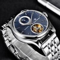 2021 PAGANI DESIGN New Men's Watch Top Stainless Steel Automatic Mechanical WristWatch Luxury Waterproof Tourbillon Moon Clock