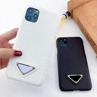 Iphone 11 12 mini pro x xr xs max 78 plus用の三角形のレザーpuケース,高品質,デザインカバー,素晴らしいオファー
