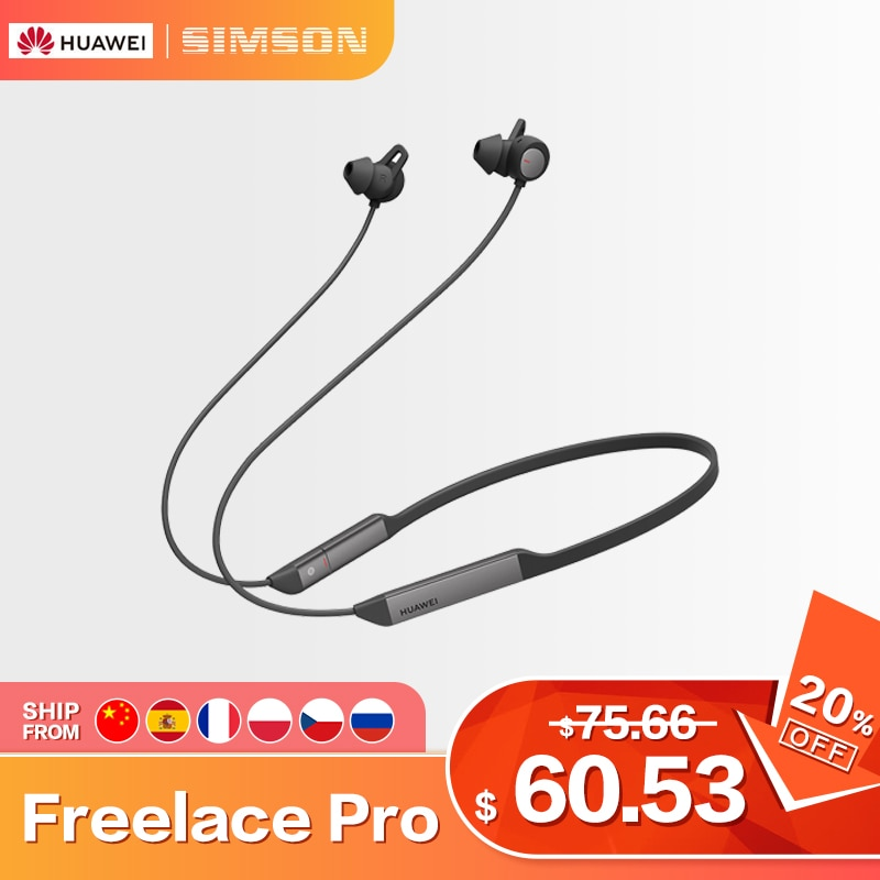 Huawei auriculares bluetooth inalámbricos Freelace Pro, cascos inalámbrico bluetooth, carga rápida