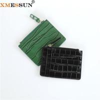 XMESSUN 2021 New ID Card Holder 100% Genuine Leather Crocodile Card Pack Trend Luxury Handmade Alligator Skin Slim Wallet Custom