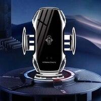 Automatische Spann Auto Drahtlose Ladegerät 10W Quick Charge Für iphone 11 Pro XR XS Huawei Samsung Qi Infrarot Sensor telefon Halter