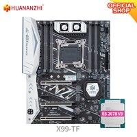 HUANANZHI X99 TF X99 Motherboard Intel mit XEON E5 2678 V3 MOS FAN DDR3 DDR4 RECC speicher combo kit set NVME SATA 3,0 USB 3,0 ATX