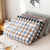 40*60cm/30*50cm Latex Pillow Cases Strip Plaid Soft Memory Foam Pillowcases Neck Memory Pillow Cover Cushion Cover