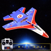 Rc Festen Flügel Modell Mini Su27 RC Flugzeug Mit Microzone MC6C Sender mit Empfänger und Struktur Teile Für DIY RC flugzeug