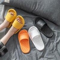 JIANBUDAN comfortable soft Indoor slippers women Non-slip bathroom home shoes Flat EVA Lovers Slides Women's sandals 36-45 size