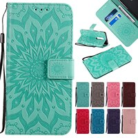 3D財布フリップひまわりモトG4 G5 G6 G5S G7 G8 1 E7 E6プラス再生電源帳ソフトtpu電話カバーfundas
