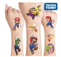Super Mario original Tattoo stickers random 1PCS action figure Cartoon Super Marie toys boys girls Christmas kids birthday gifts