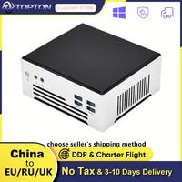 Topton 11th Gen Intel Mini PC Core i7 1165G7 i9 10880H 2 * Lans 2 * DDR4 64GB 2 * M.2 NVMe SSD Desktop-Computer Nuc Windows 10 Linux