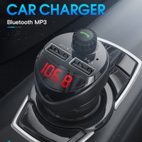 Auto Bluetooth Kompatibel 4,2 FM Transmitter Drahtlose Hände FreeFM Radio Adapter Tf-karte Pendrive MP3 Player 3,4 EIN Dual USB ladung