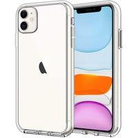 Originele Luxe Merk Clear Telefoon Case Voor Iphone 11 Pro Max 13 12 Mini X Xr Xs 8 7 Hybrid schokbestendig Siliconen Transparant Cover