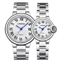 CHENXI kochanka zegarki mężczyźni i kobiety moda kreatywny projekt zielony różowy Dial zegarek kwarcowy dla kobiet nowy 2021 para sparowane zegarki