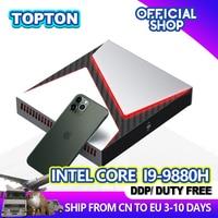 Leistungsstarke Mini Pc Intel Core i9 9980HK i9-9880H i5-9300H GTX 1650 4GB GDDR5 Gaming Desktop Computer Win 10 Pro 4K HDMI DP Typ-C