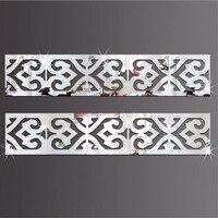 DIY 허리 라인 3D 거울 스티커 5x5CM/10x10CM, DIY 아크릴 방 장식 벽 스티커 아이 방 거실용, 10 개