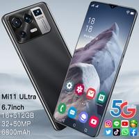 Mi 11 Ultra 6,7-zoll Smartphone 16 + 512G 6800mAh Batterie Android Telefon Volle Bildschirm Unterstützt Google globale Version Wifi 5G Telefon