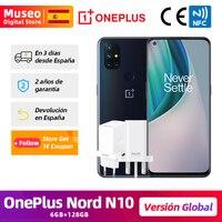 Globale Version OnePlus Nord N10 5G Snapdragon Soc Handy 6GB 128GB 6.49 ''90Hz FHD + display Quad Kamera Warp Ladung 30T NFC