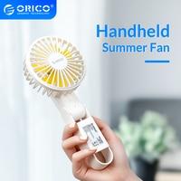 ORICO נייד USB מאוורר מיני כף יד 2000mAh נטענת USB קירור קיץ מאוורר 3 מהירויות עבור משרד שולחן עבודה חיצוני