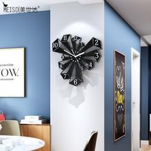 MEISD 현대 디자인 디지털 벽 시계 부엌 장식 빈티지 시계 블랙 거실 장식 Horloge 레트로 무료 배송