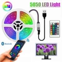 Led Lights Strip RGB 5050 USB Cable Ribbon Lighting Waterproof DC5V Bluetooth IR Remote Controller Decoration Bedroom BackLight