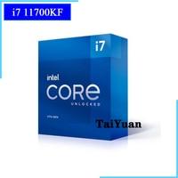 Intel Core i7-11700KF i7 11700KF 3,6 GHz Acht-Core Sechzehn-Gewinde CPU Prozessor 125W LGA 1200 Benötigen h410 B560 Z590 Motherboard