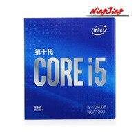 Intel Core i5-10400F i5 10400F 2,9 GHz Sechs-Core Zwölf-Gewinde CPU Prozessor 65W LGA1200 Versiegelt neue und mit kühler
