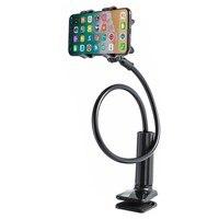 אוניברסלי נייד טלפון בעל מיטת קליפ עצלן סוגר גמיש Gooseneck קלאמפ ארוך זרועות הר שולחן שולחן טלפון Stand מחזיק