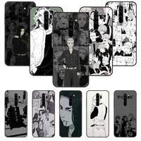 Telefon Fall Für Xiaomi Redmi Hinweis 8 8T 7 7A 9 9S 8A 4 5 Pro Schwarz Abdeckung shell Kunst Prime Tpu Etui Trend Cartoon tokyo revengers