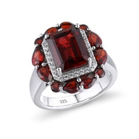 GZ ZONGFA מכירה לוהטת בעבודת יד חתונה אירוסין תכשיטים טבעי גרנט 925 טבעת כסף מסיבת נשים