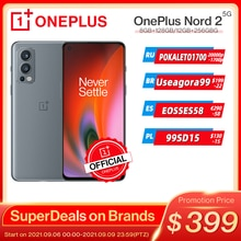 Globale Version OnePlus Nord 2 5G Smartphone Dimensity 1200-AI 8GB 128GB 50MP AI Kamera Warp Ladung 65 90Hz Flüssigkeit AMOLED Display