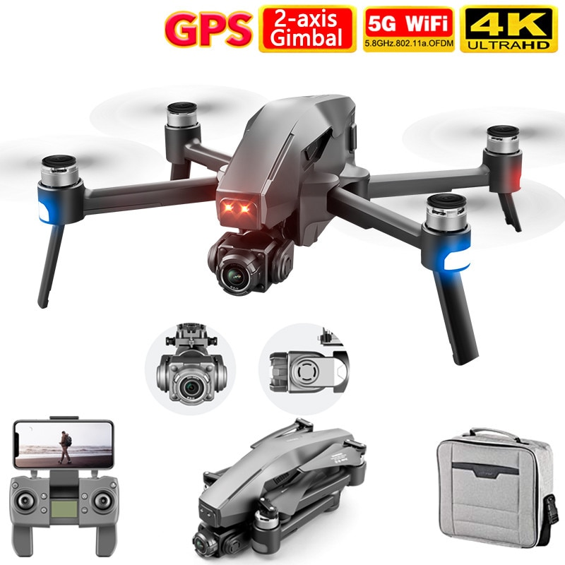 2021 M1 Pro 2 drone 4k HD mechanische 2-Achsen gimbal kamera 5G wifi gps system unterstützt TF karte drohnen entfernung 1,6 km