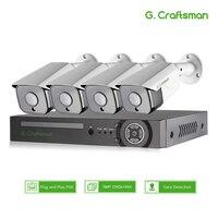 XMeye 5MP Gesicht Erkennung POE IP Kamera Sicherheit System Kits 4CH SONY 335 Audio Wasserdichte CCTV Video Überwachung AI Onvif NVR