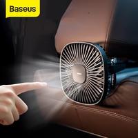 Baseus רכב אוהדים אילם אוויר למעבד מאוורר 12V מזגן 360 תואר סיבוב קירור מאוורר עבור רכב מושב אחורי עם 1.5 כבל USB מאוורר