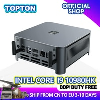 TOPTON Neue Ankunft 10th Gen Intel Core Mini PC i9 10980HK i7 10750H i5 10300H Windows 10 2 * DDR4/M.2 DP HDMI 4K Computer HTPC NUC