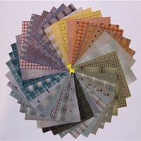 9*12cm יפני צבוע חוט בד בעבודת יד DIY טלאי 100% כותנה בד לתפירה בובת שמיכת בגדים בד צרור 50 יח'\חבילה